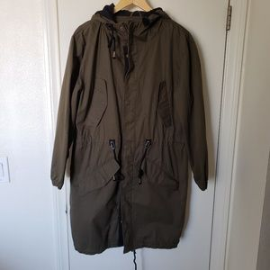 Love Tree anorak jacket army green coat large